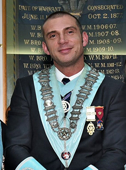 Worshipful Master Of the Albert Edward Lodge No. 1714